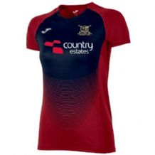 Ballyclare Hockey Club Women's Elite VI T-Shirt Red/Navy - Adults 2018